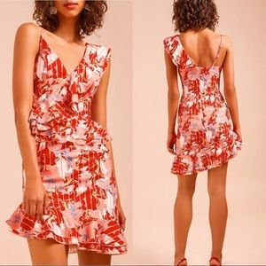 C/MEO COLLECTIVE Entice Floral print Ruffle Dress